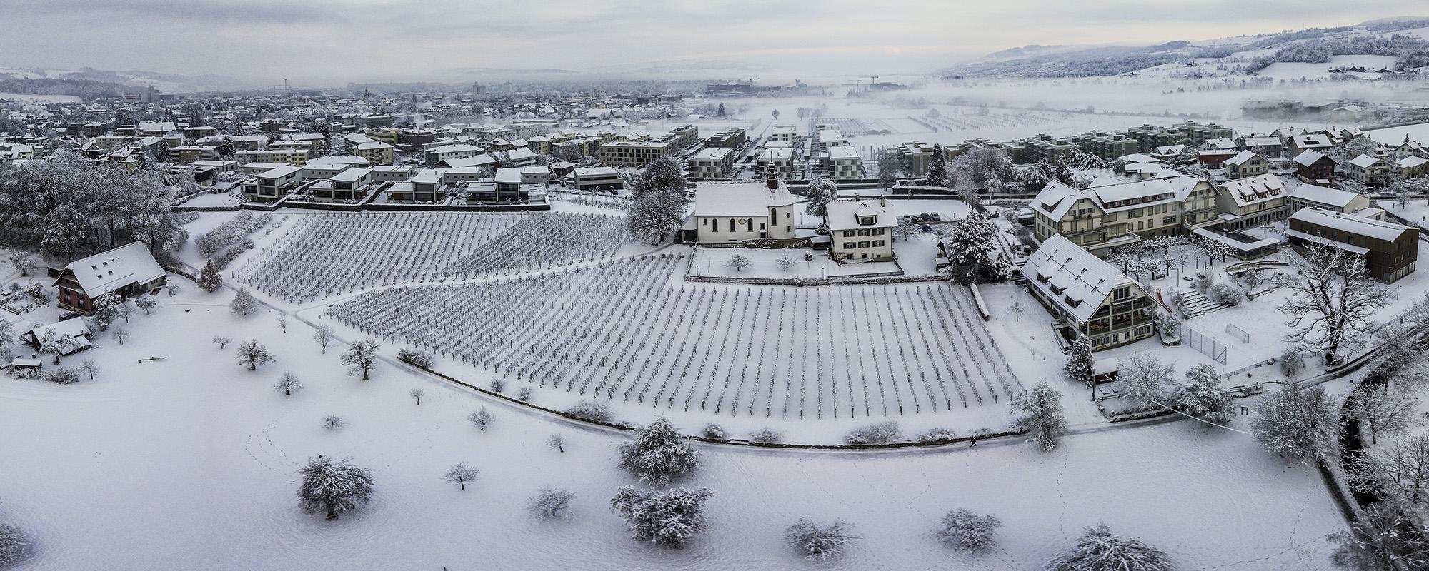 Mariazell Luftaufnahme Winter